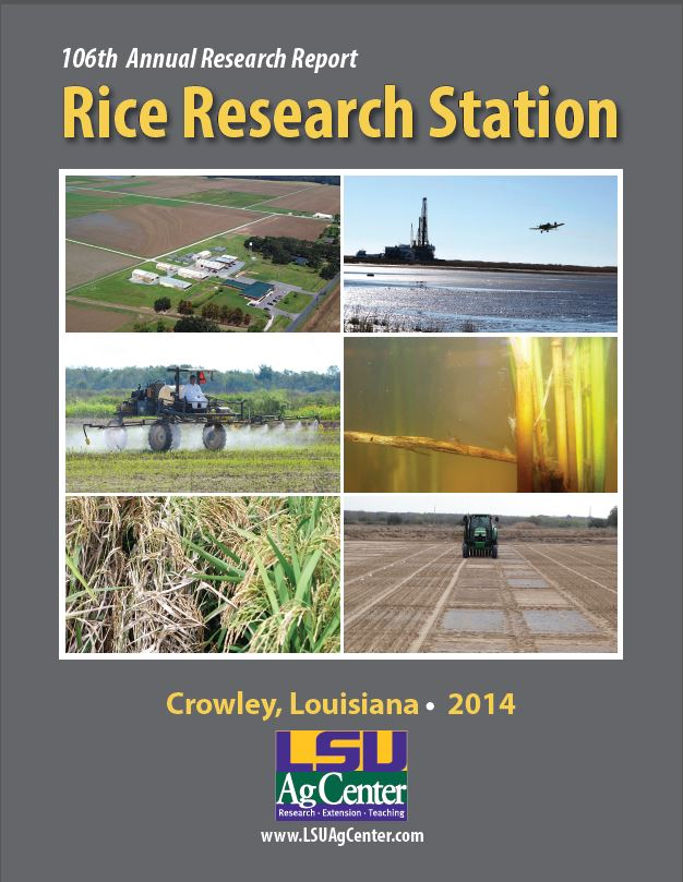 2014 Rice Research Station Annual Report