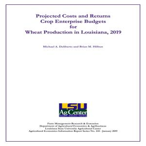 Wheat Enterprise Budgets, 2019