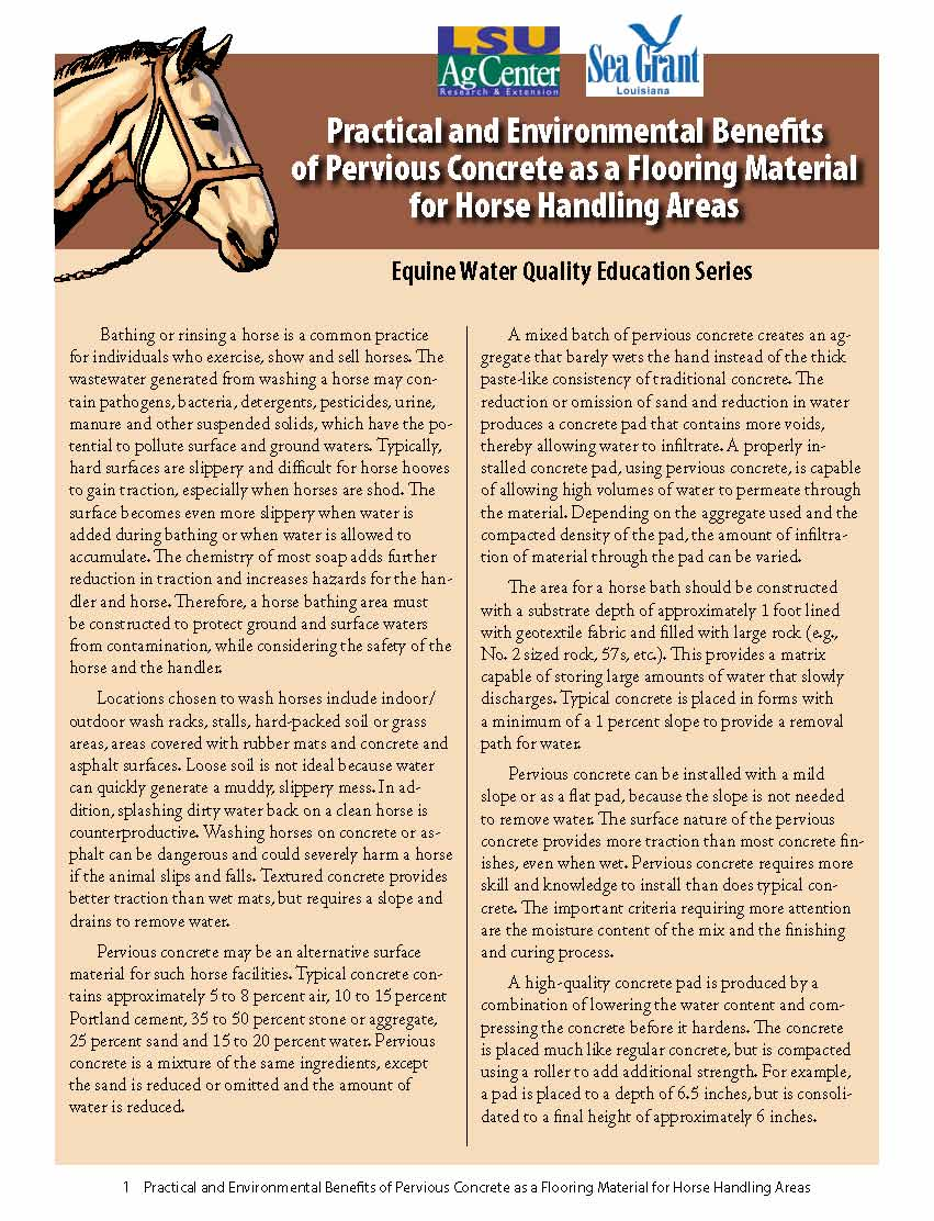 Practical and Environmental Benefits of Pervious Concrete