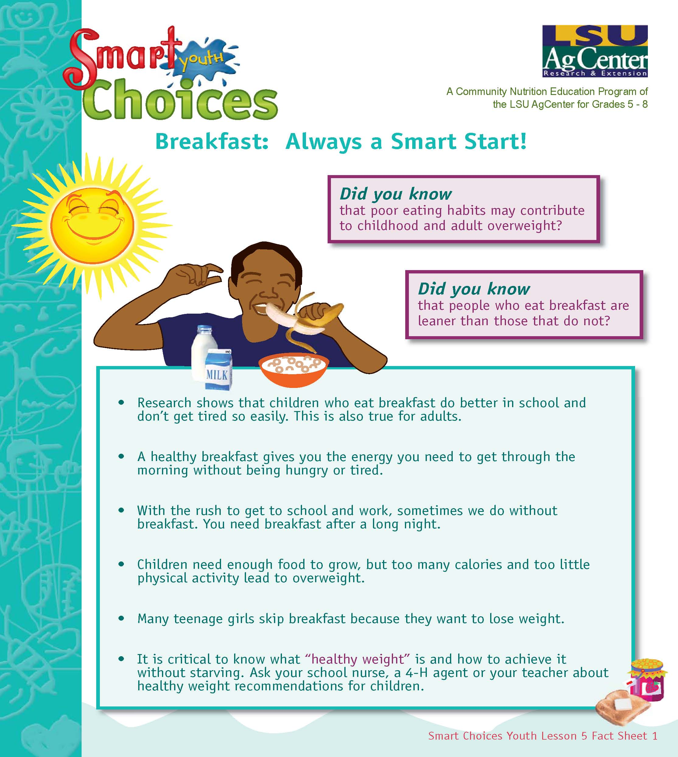 Breakfast: Always a Smart Start