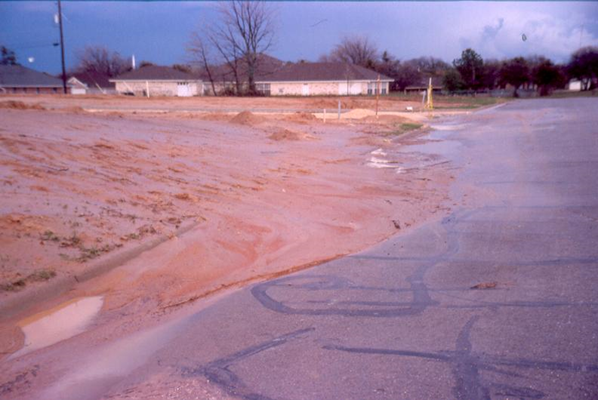 Erosion damage in Central Texas.