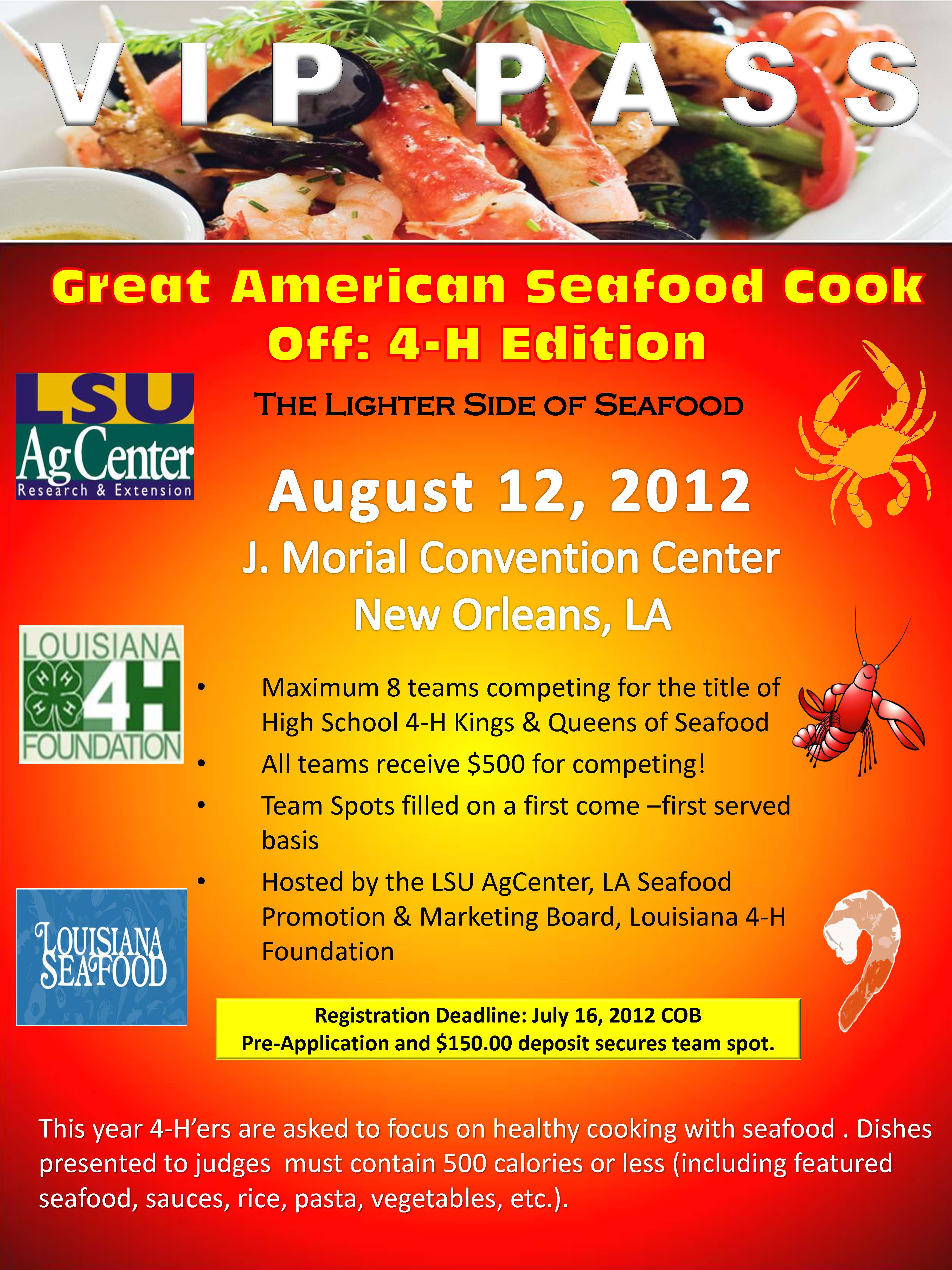 2012 Great American Seafood CooK Off: 4-H Edition