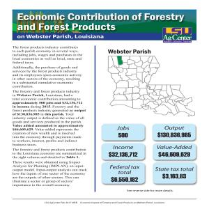 Economic Contributions of Forestry and Forest Products on Webster Parish, Louisiana