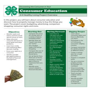 Consumer Education Project Overview