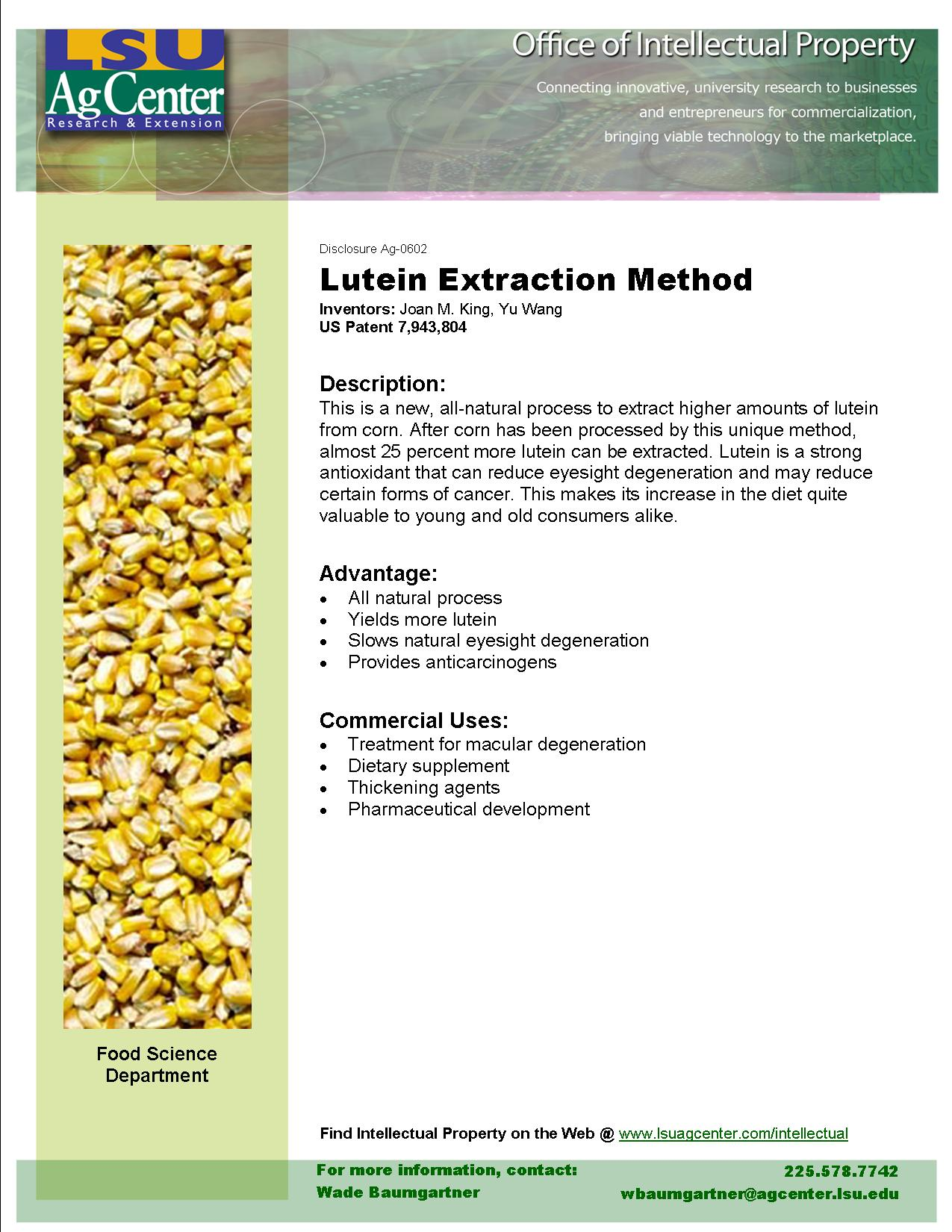 High-yield Lutein Extraction Method