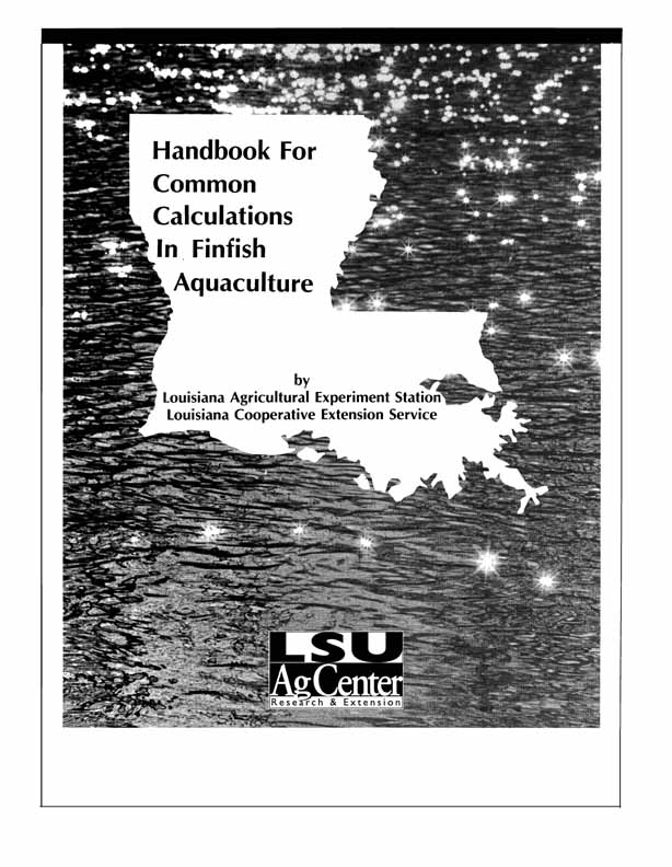 Handbook for Common Calculations in Finfish Aquaculture
