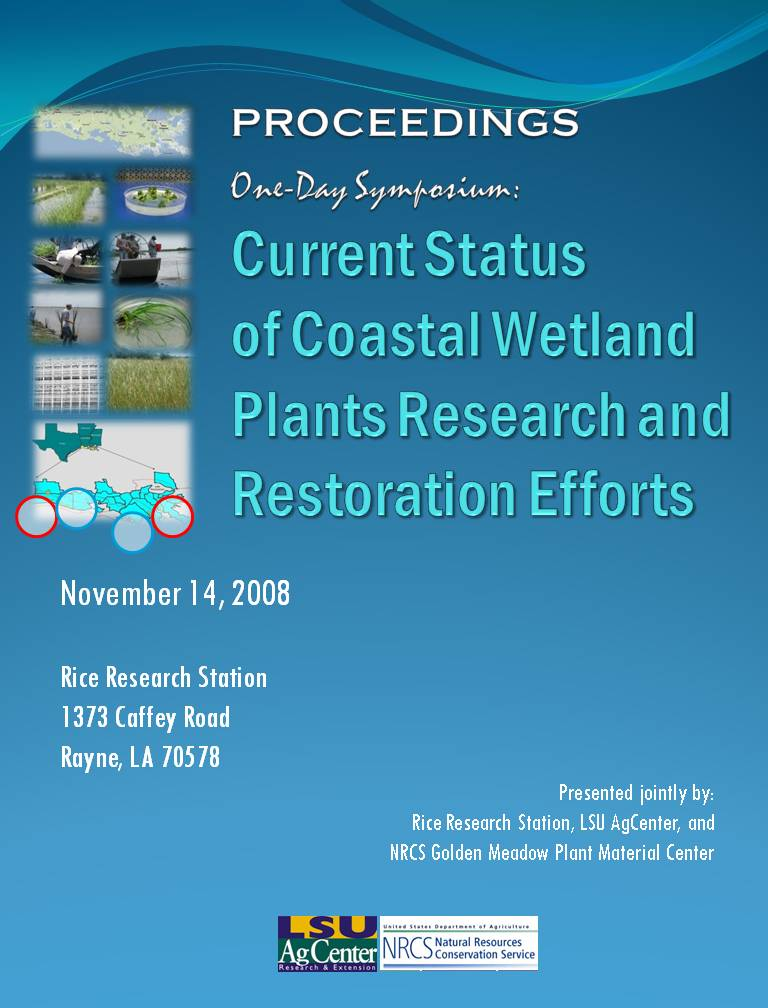 Current Status of Coastal Wetland Plants Research and Restoration Efforts