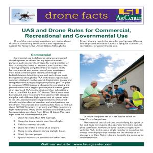 UAS and Drone Rules for Commercial, Recreational and Governmental Use