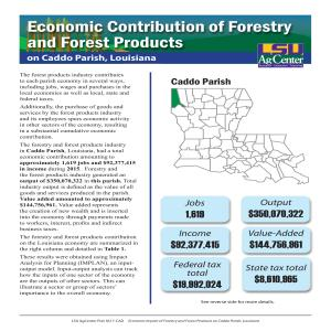 Economic Contribution of Forestry and Forest Products on Caddo Parish, Louisiana