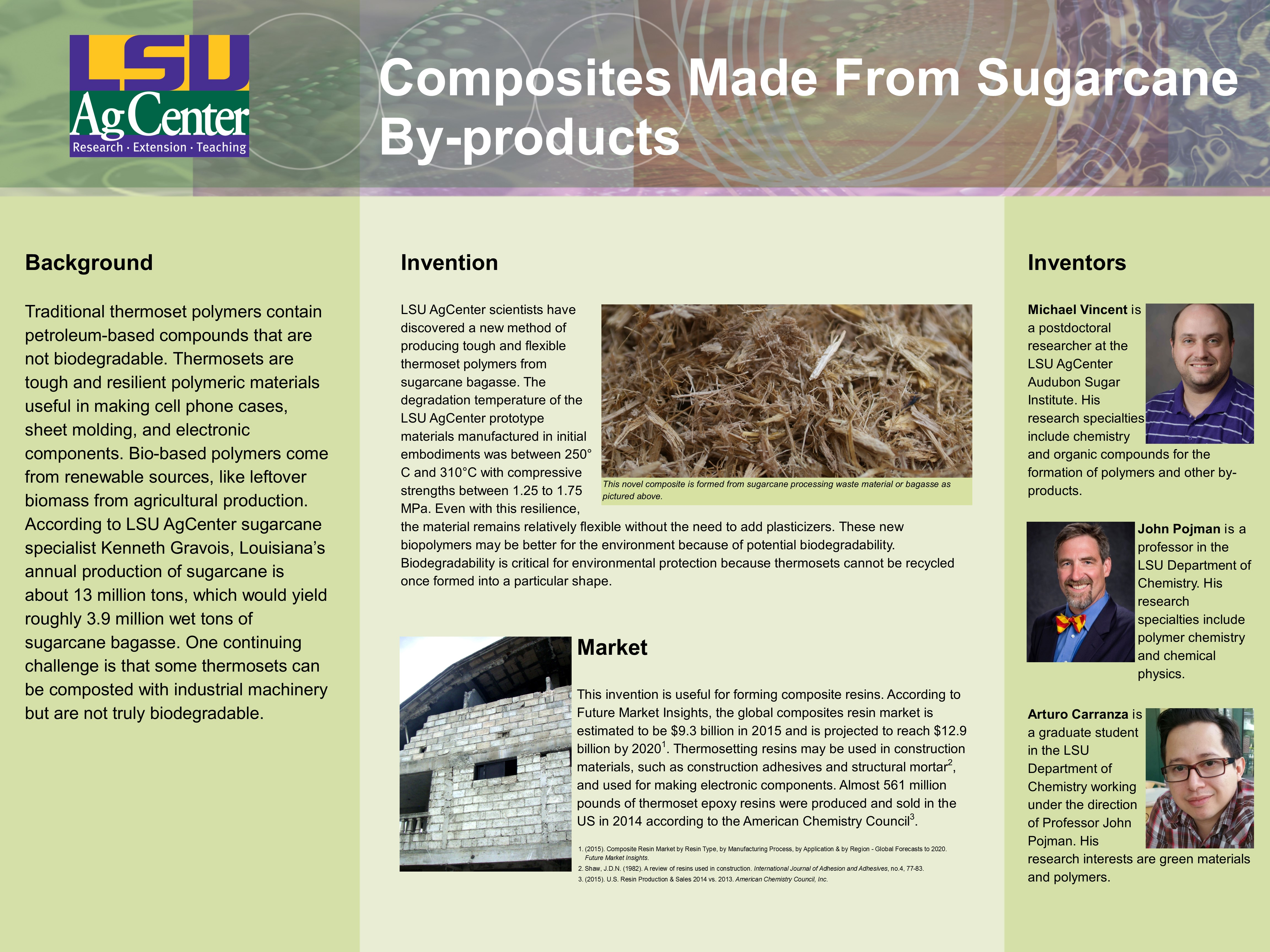 Composites Made From Sugarcane By-products
