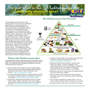 So just what is the Mediterranean diet...and why should I care?