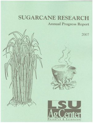 2007 sugarcane report cover