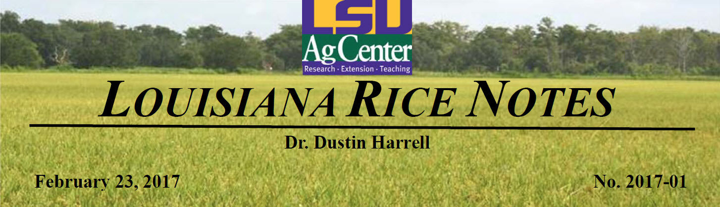2017 Louisiana Rice Field Notes #1