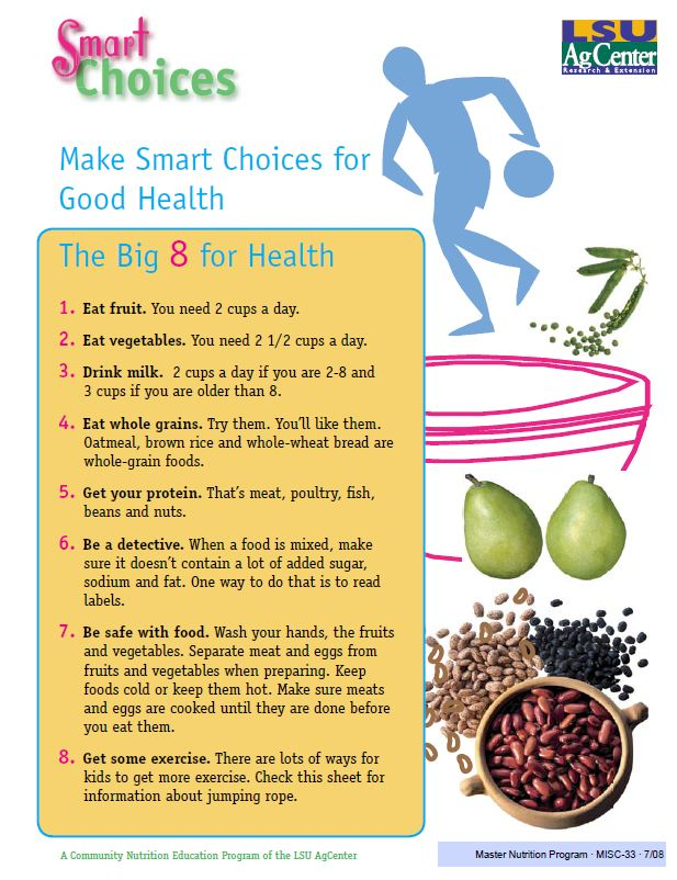 Fact Sheet: Make Smart Choices for Good Health