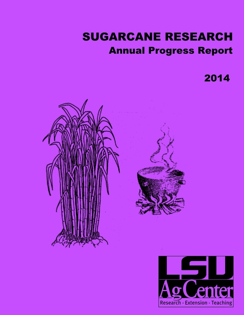 2014 Sugarcane Annual Progress Report