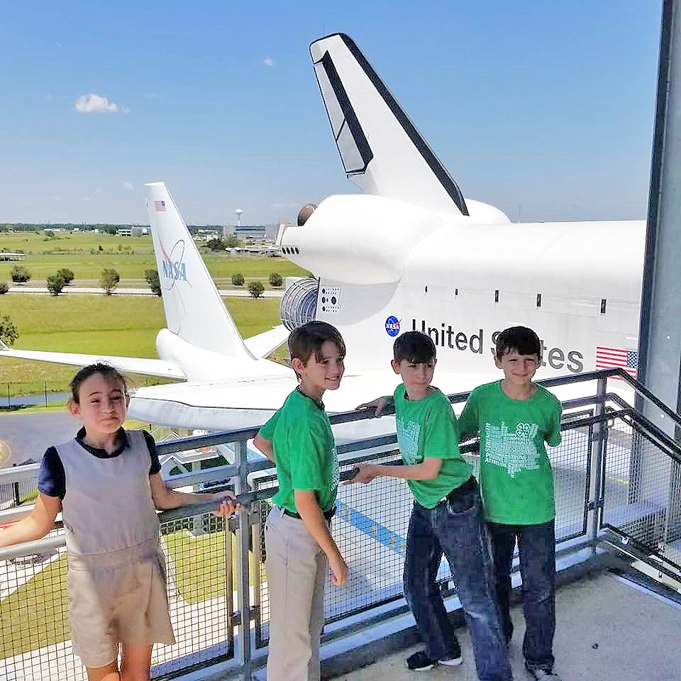 Evangeline 4-H at space shuttle.jpg thumbnail