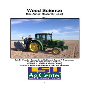 Weed Science Annual Research Reports
