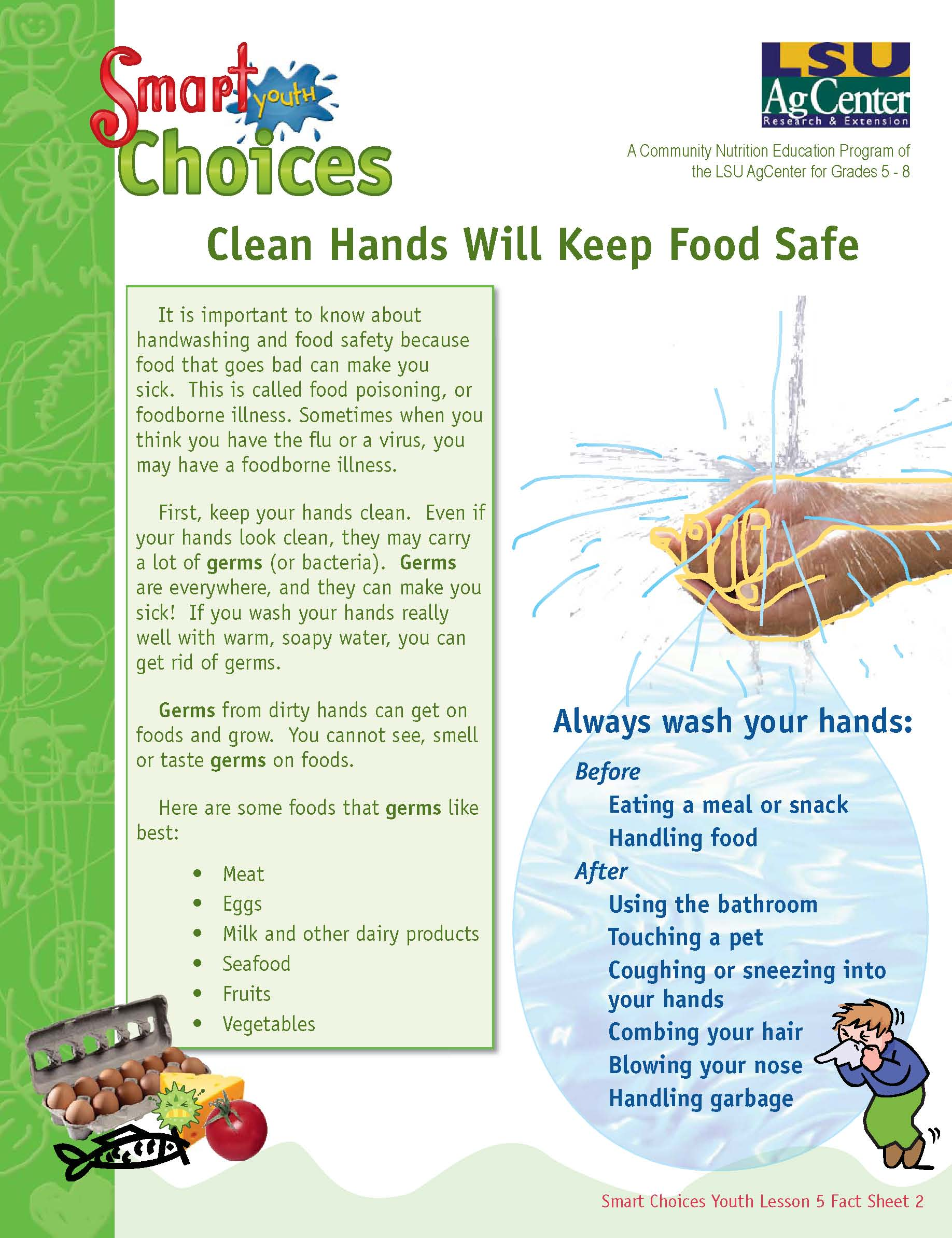 Clean Hands Will Keep Food Safe