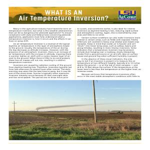 What is an Air Temperature Inversion?
