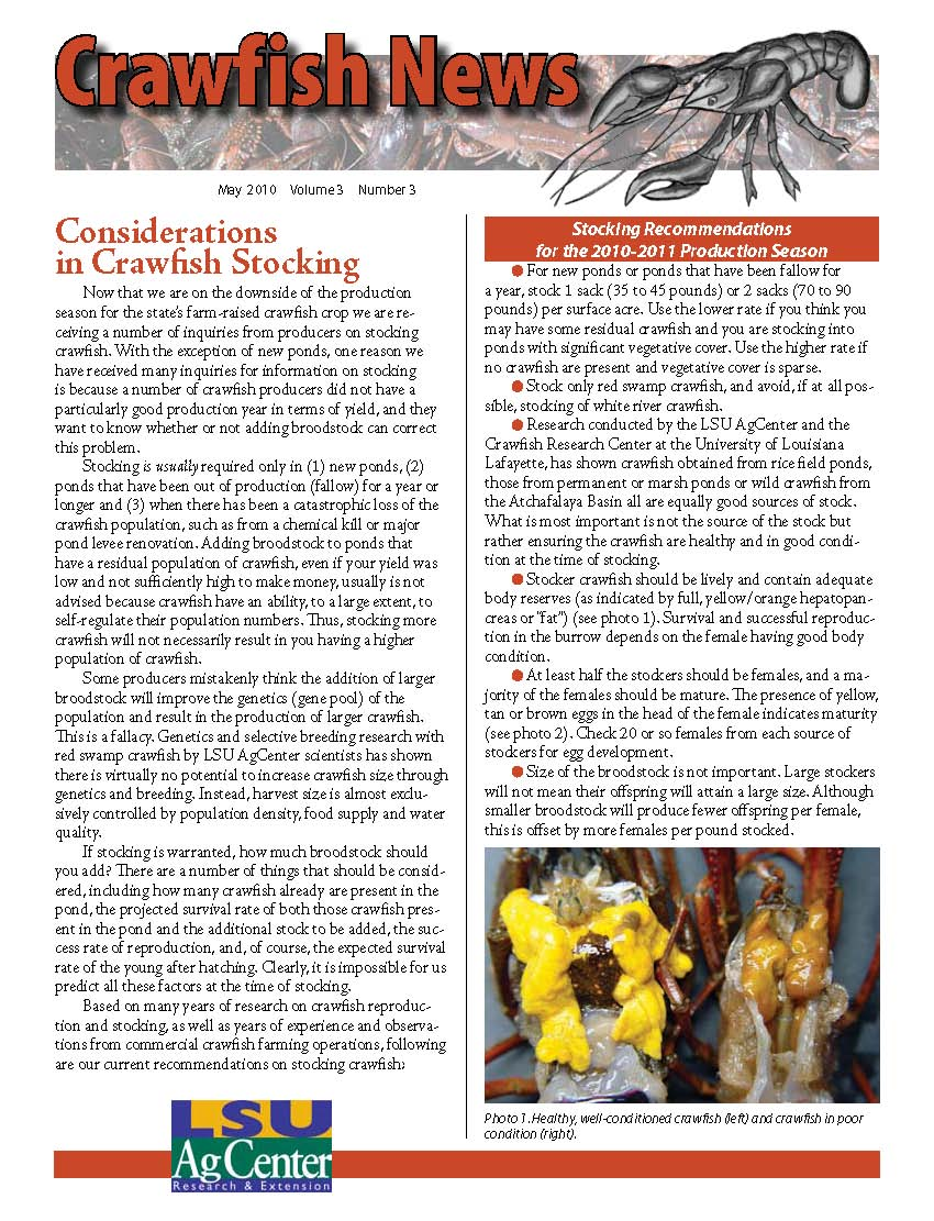 Crawfish News May 2010 (Vol 3 No 3)