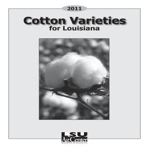 2011 Cotton Varieties for Louisiana