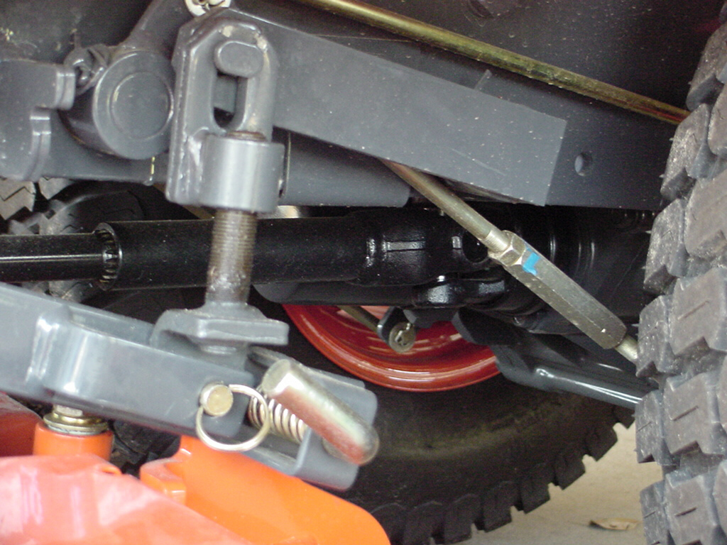 shaft drive to mower deck