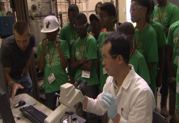 Youngsters learn about biofuels crops during summer science camp