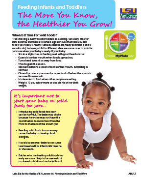 Feeding Infants and Toddlers: The More You Know the Healthier You Grow!