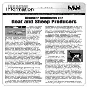 Disaster Readiness for Goat and Sheep Producers