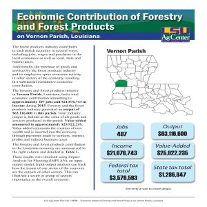 Economic Contributions of Forestry and Forest Products on Vernon Parish, Louisiana