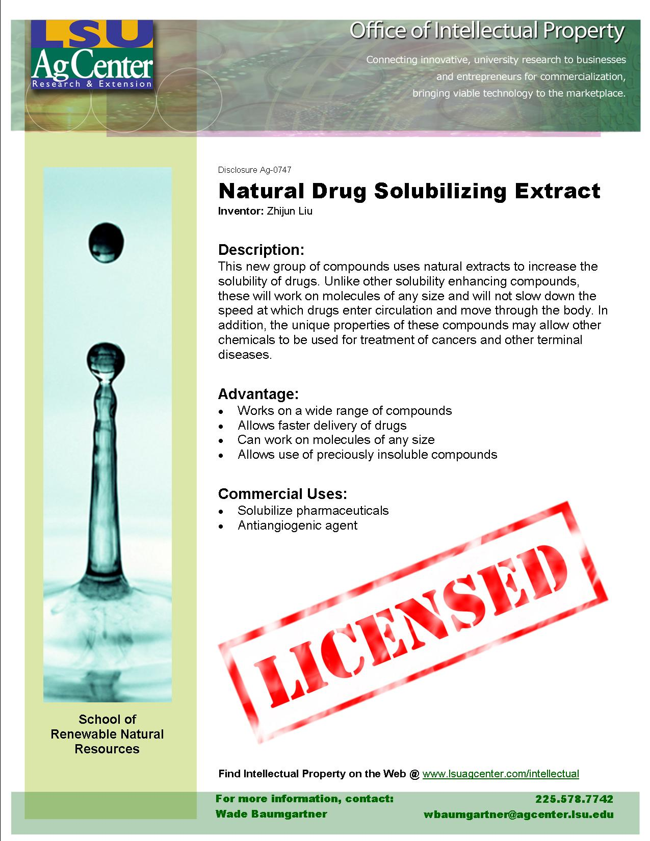 Natural Drug Solubilizing Extract