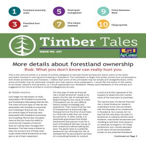 Timber Tales: Issue No. 167, Fall 2019