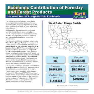 Economic Contributions of Forestry and Forest Products  on West Baton Rouge Parish, Louisiana