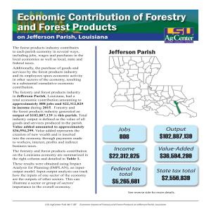 Economic Contribution of Forestry and Forest Products on Jefferson Parish, Louisiana