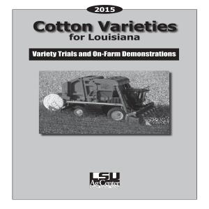 2015 Cotton Varieties for Louisiana