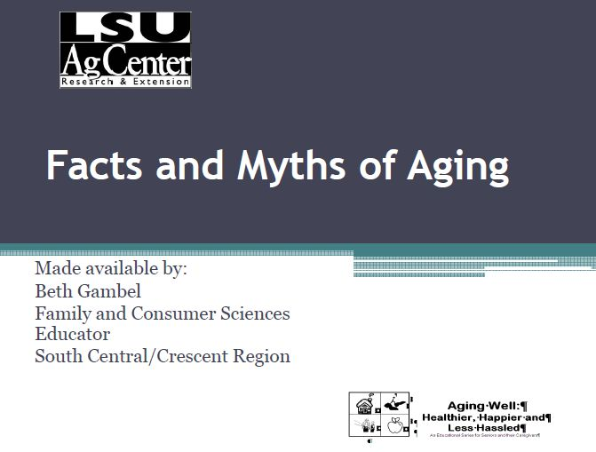 Aging Myths & Facts