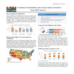 Louisiana Commodities and Conservation Newsletter - June 2019 - Issue 2