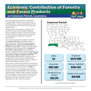 Economic Contribution of Forestry and Forest Products on Cameron Parish, Louisiana