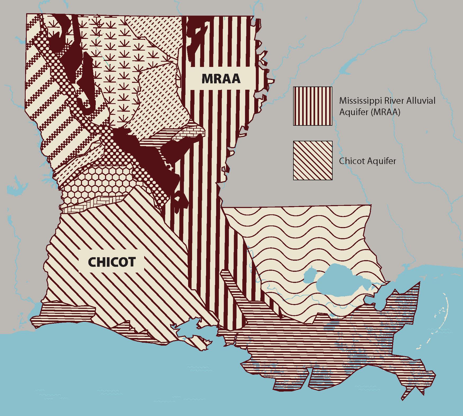 Economic Impact of Groundwater Salinity in Louisiana on mn stream maps, mn lake maps, mn watershed maps, mn glacier maps, mn soil maps, mn water maps, mn river maps, mn elevation maps, mn climate maps,