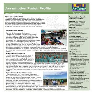 Assumption Parish Profile 2017-18