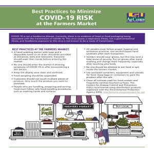 ​Best Practices to Minimize COVID-19 Risk at the Farmers Market