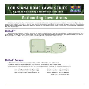 Louisiana Home Lawn series: Estimating Lawn Areas