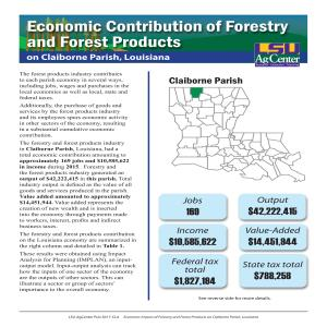 Economic Contribution of Forestry and Forest Products on Claiborne Parish, Louisiana