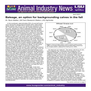Animal Industry News Update 2017