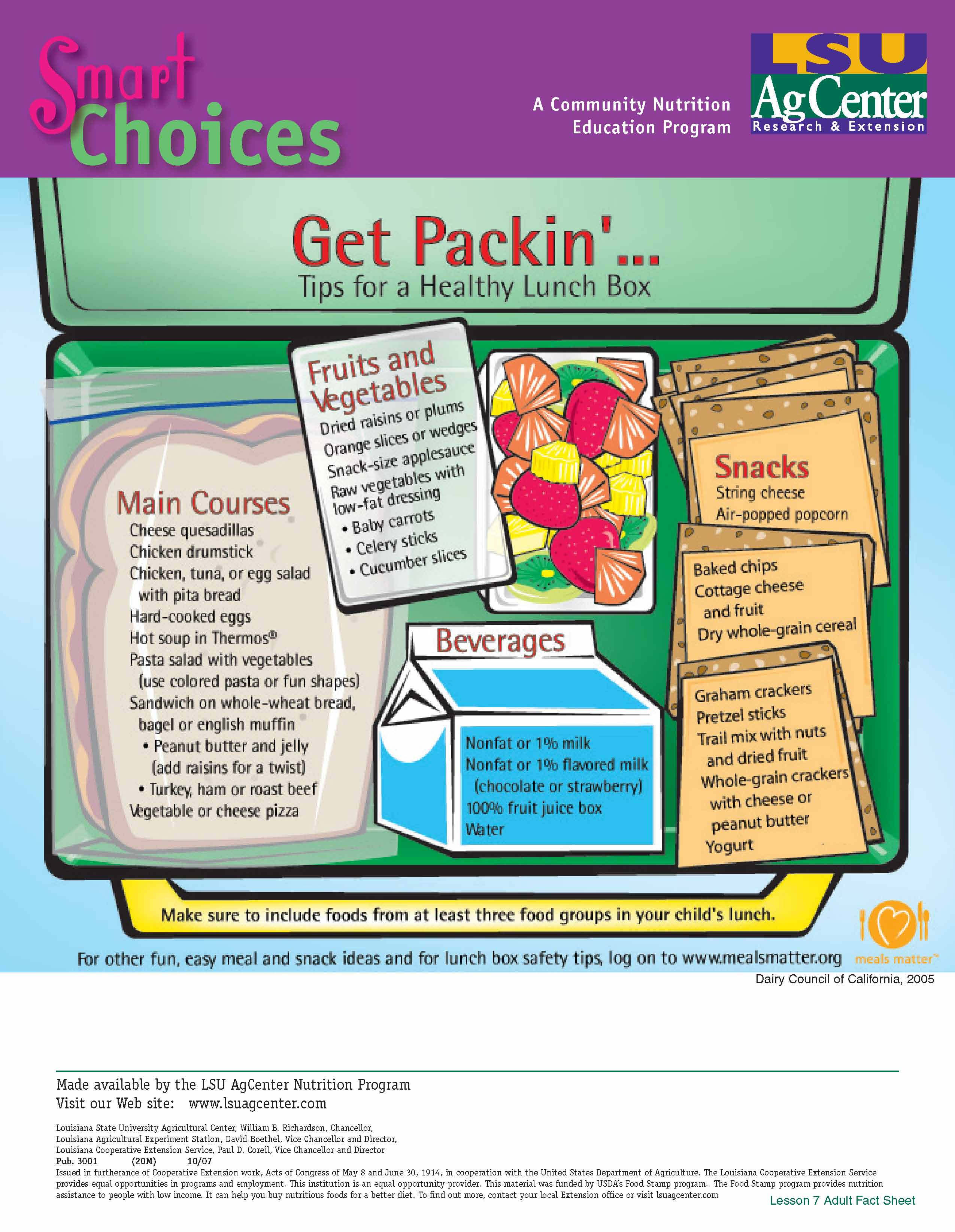 Smart Choices: Get Packing…Tips for a Healthy Lunch Box