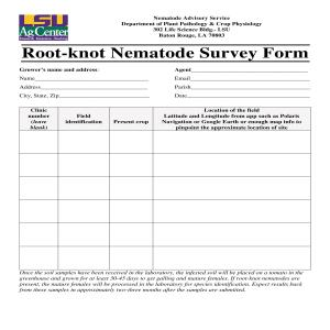 Root-knot Nematode Survey Form