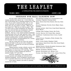The Leaflet Volume 1, Issue 1