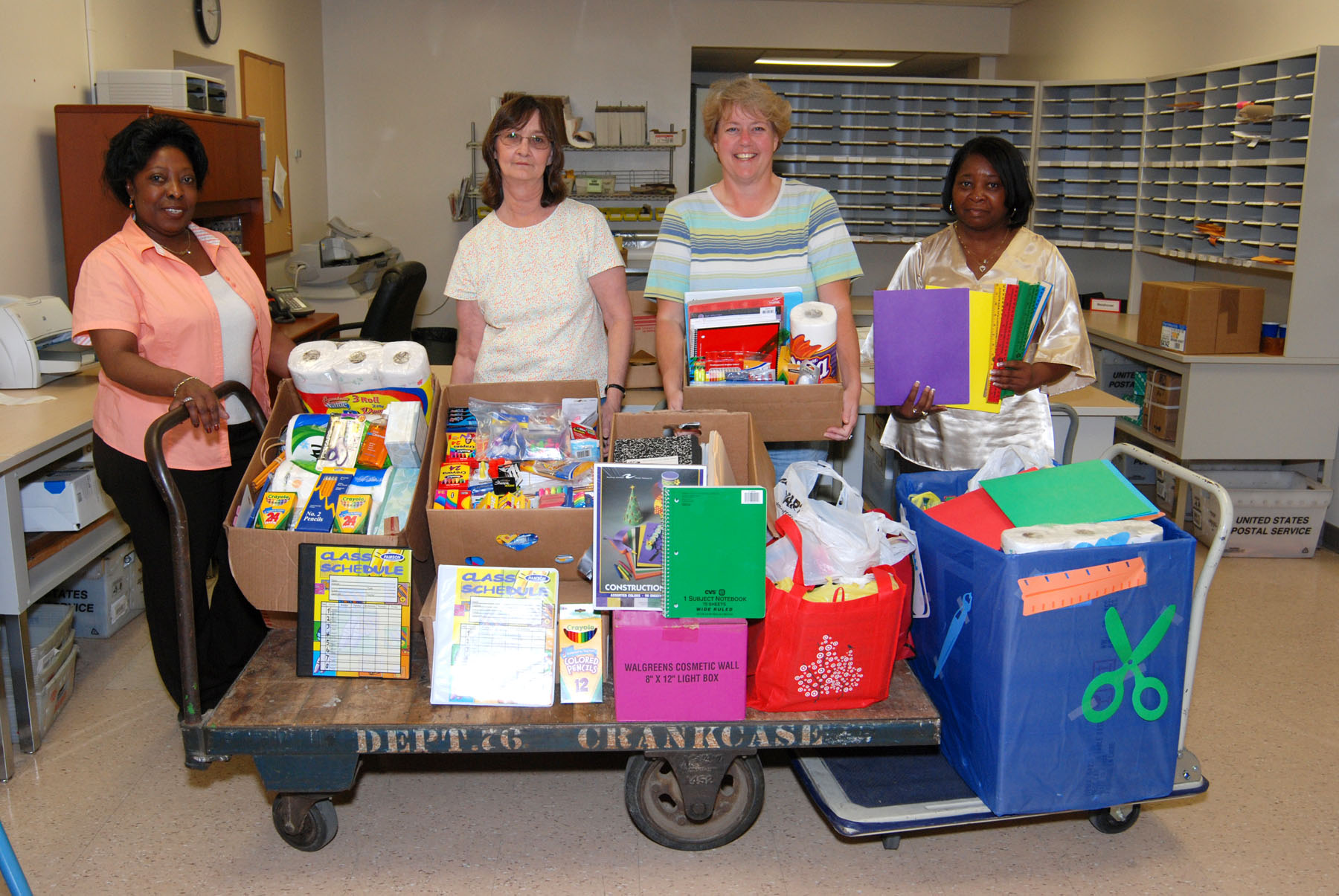 school supplies collected by LVFC