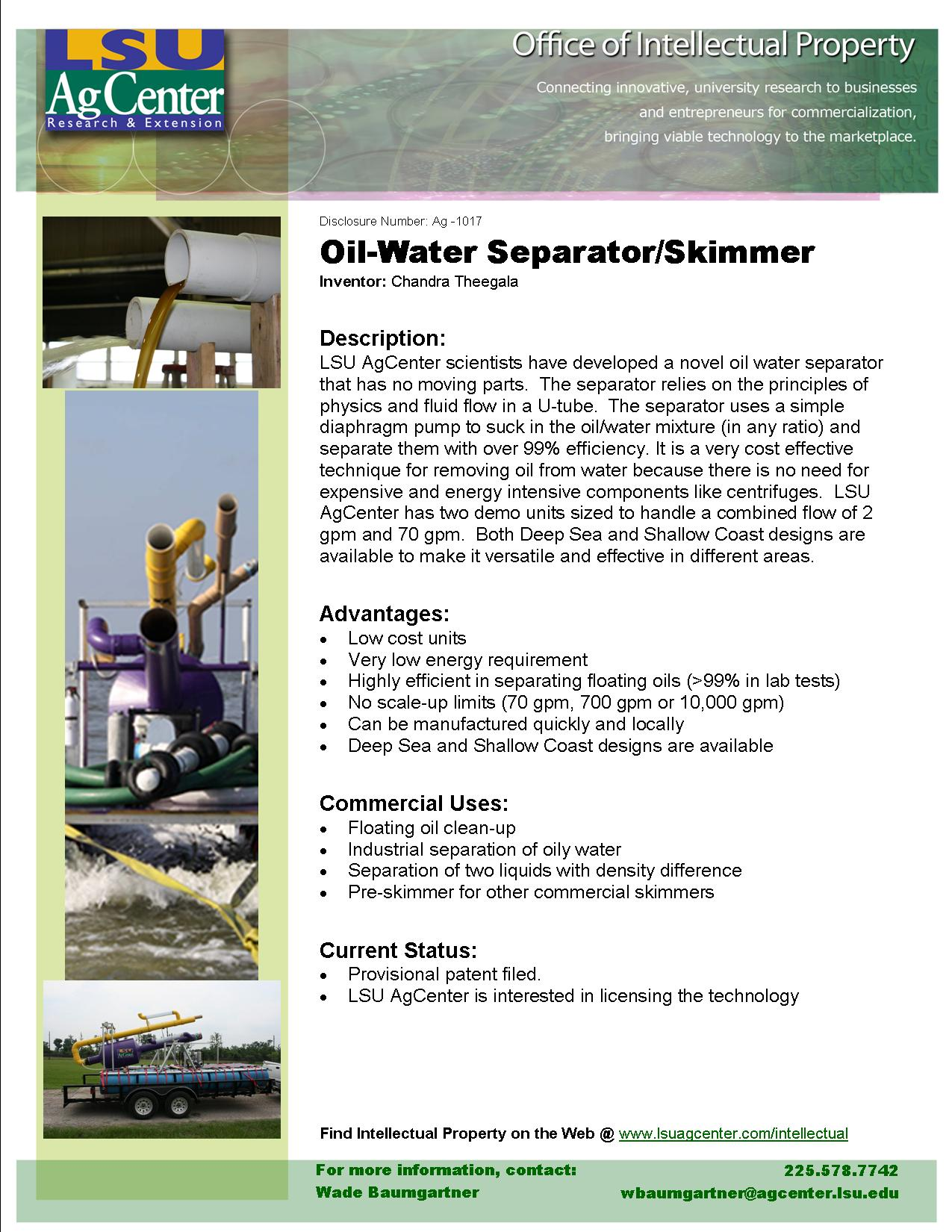 Efficient Oil-water Separator