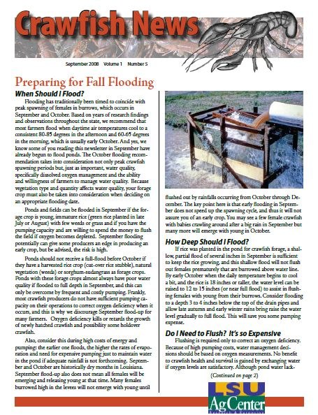 Crawfish News September 2008 (Vol 1 No 5)